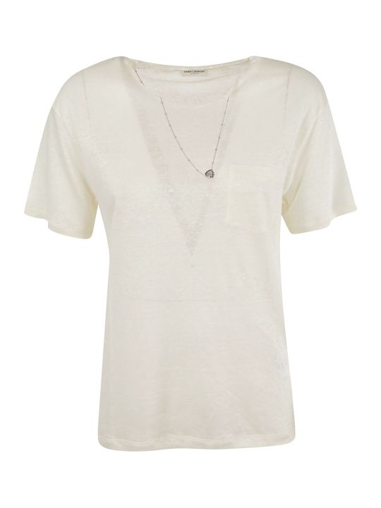 Saint Laurent Necklace Detail T-shirt