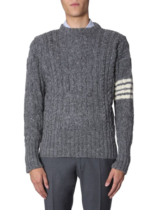 Thom Browne 4bar Aran Cable Sweater