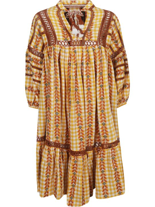 Dodo Bar Or Elena Ethnic Flared Dress