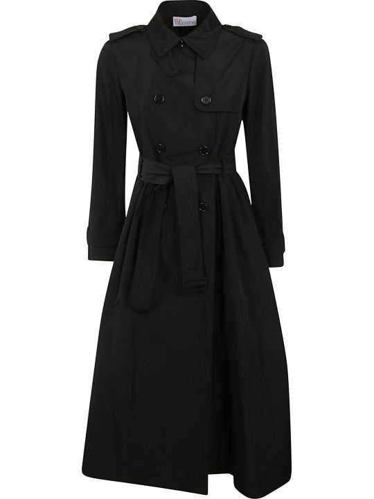 RED Valentino Double Breasted Tied Waist Trench