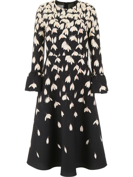 Valentino Snowdrop Midi Dress