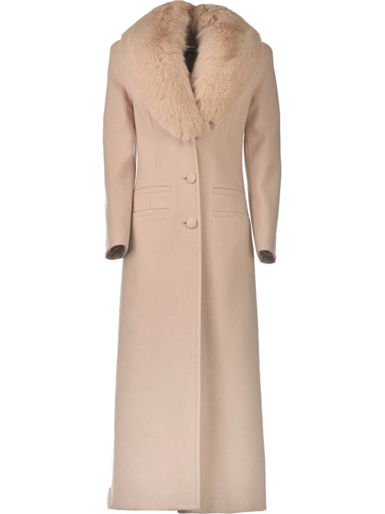 Blumarine Blumarine Wool Overcoat With Fox