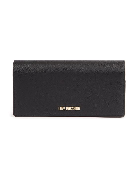 Love Moschino Faux Leather Black Wallet
