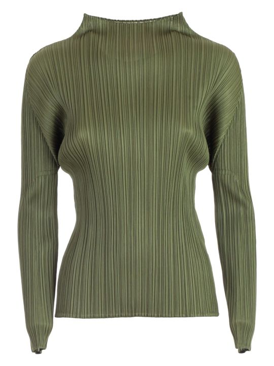 Pleats Please Issey Miyake Sweater L/s Crew Neck