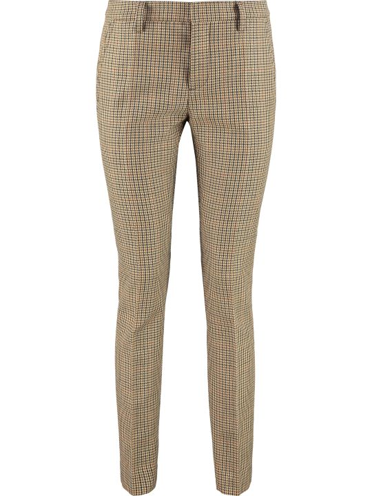 Dsquared2 Prince Of Wales Checked Virgin Wool Trousers