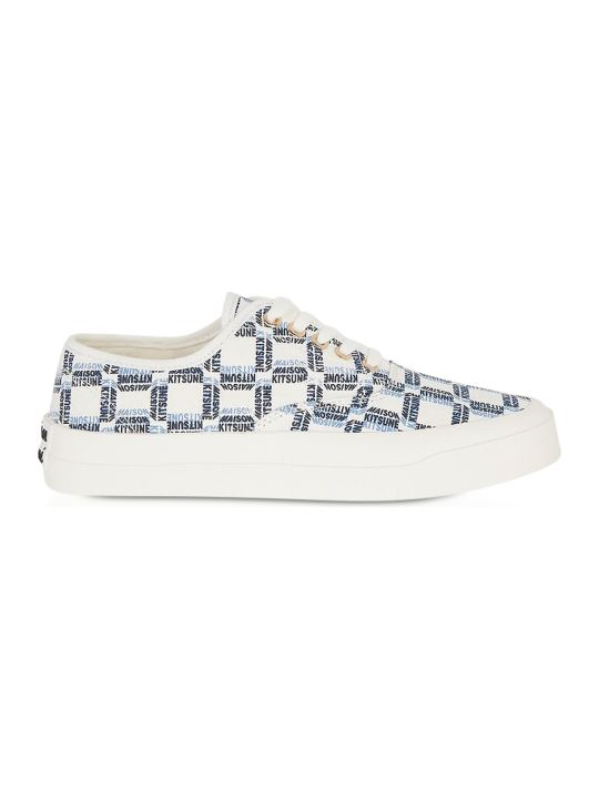Maison Kitsuné All-over Rectangle Laced Canvas Sneaker