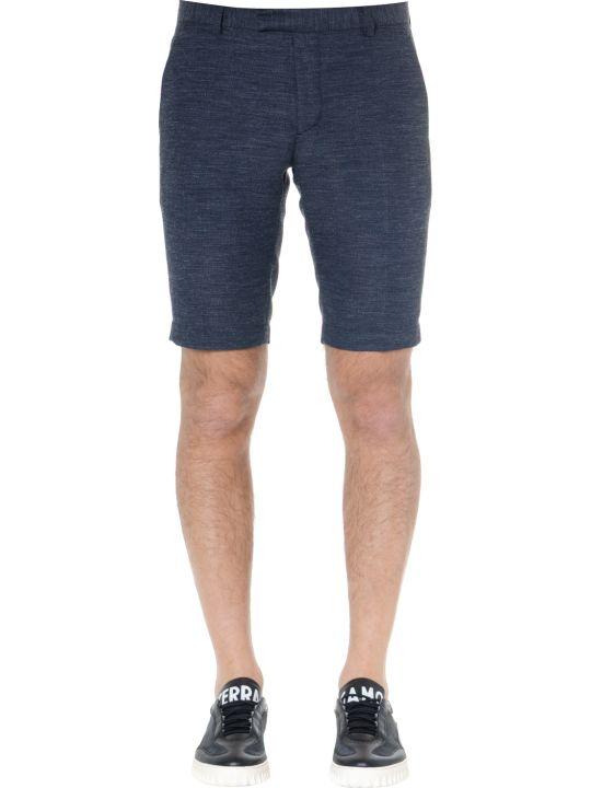 Calvin Klein Navy Blend Linen Shorts