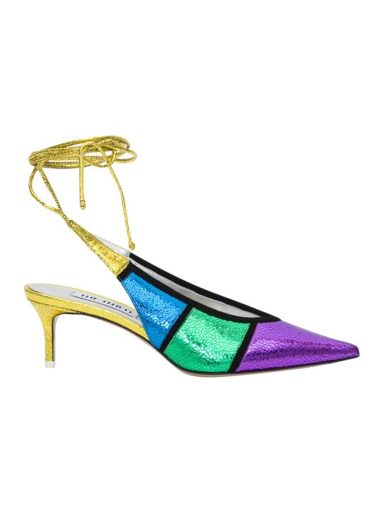 The Attico Multicoloured Crinkle Slingbacks