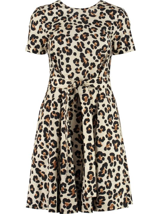 Jucca Leopard Print Cotton Dress