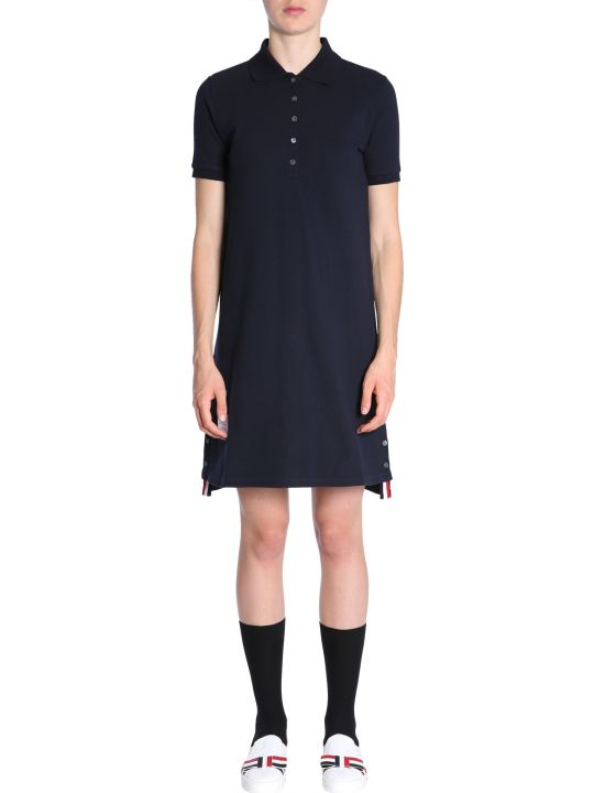 Thom Browne Cotton Pique Polo Dress