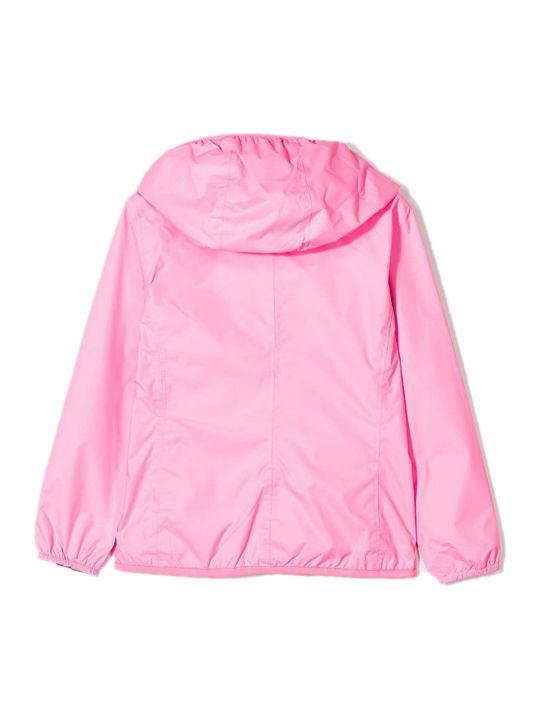 K-Way Pink Reversible Windbreaker Jacket
