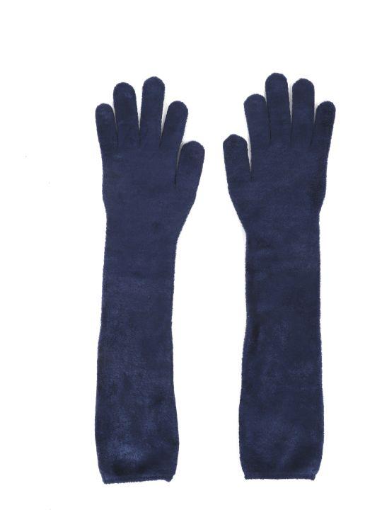 Alaia Navy Gloves