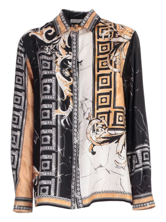 Versace Collection Mixed Print Shirt