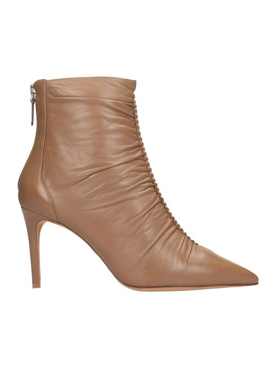 Alexandre Birman Susanna  High Heels Ankle Boots In Leather Color Leather