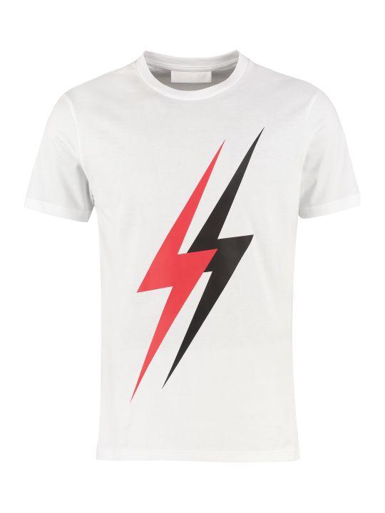 Neil Barrett Printed Cotton Short Sleeves T-shirt