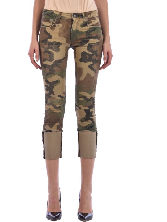 R13 Skinny Jeans Camouflage