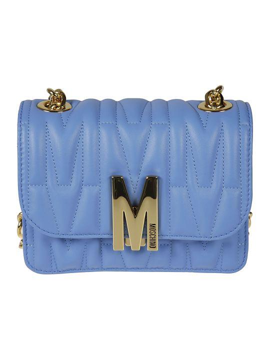 Moschino Logo Plaque Printed Shoulder Bag