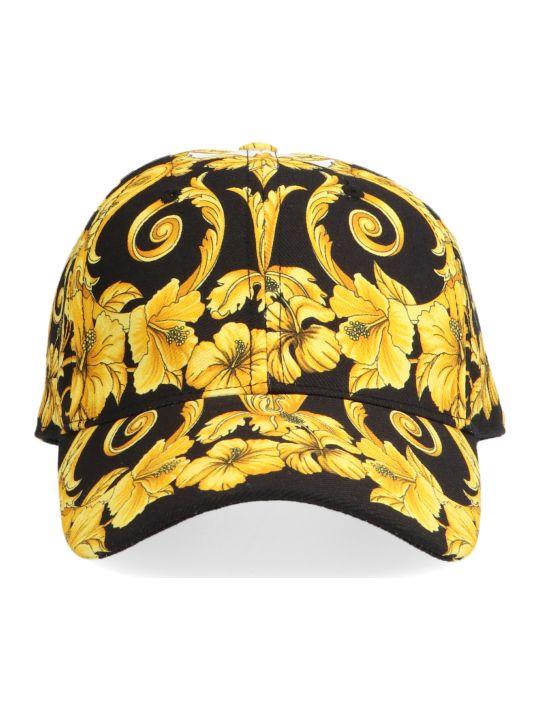 Versace 'barocco Gold Ibiscus' Cap