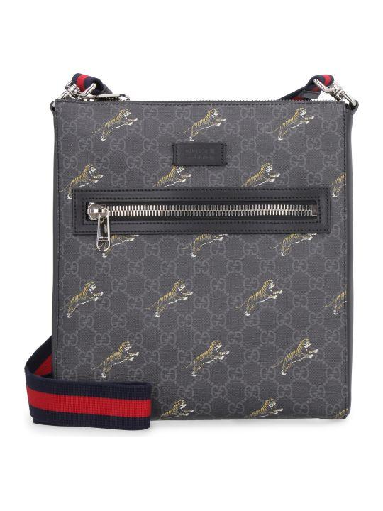 Gucci Gg Supreme Fabric Messenger Bag