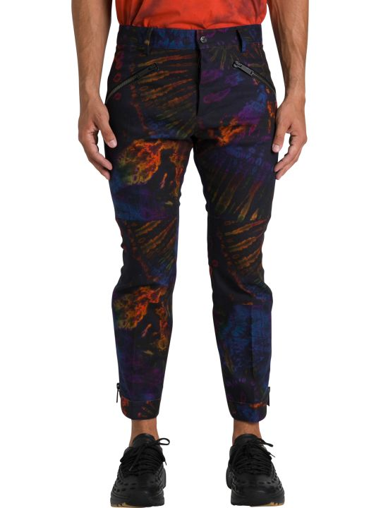 Dsquared2 Mercury Biker Fit Jeans Tie And Dye