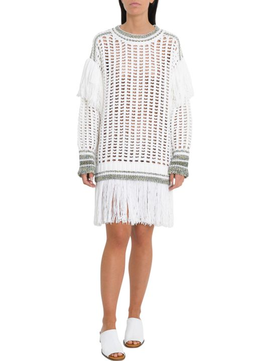 Sonia Rykiel Fishnet Fringe Jumper Dress
