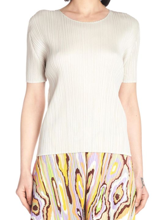 Pleats Please Issey Miyake 'new Colorfull Basic' Top