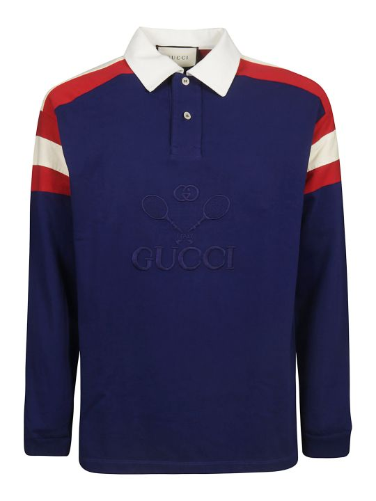 Gucci Long Sleeved Polo Shirt