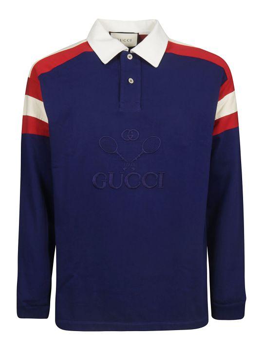 Gucci Long Sleeved Polo Shirt