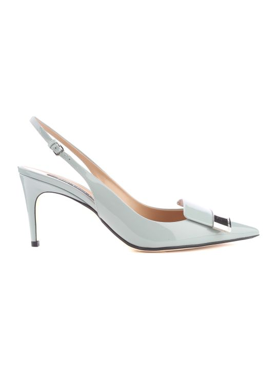 Sergio Rossi Sr1 Patent-leather Slingback Pumps