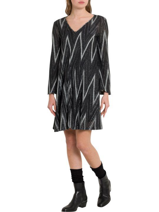 M Missoni Lurex Knit Dress With Chevron Motif