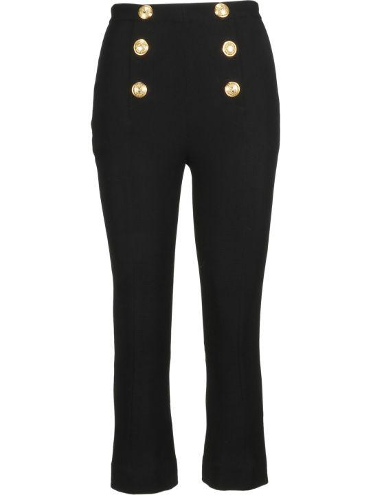 Balmain Button Detail Cropped Trousers