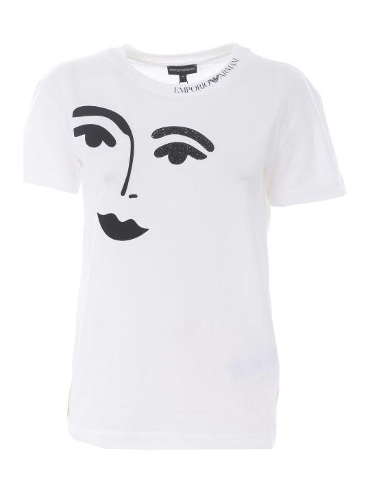 Emporio Armani Face Print T-shirt