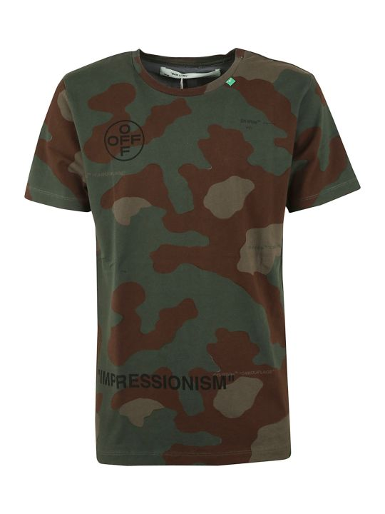 Off-White Off White Camouflage Print T-shirt