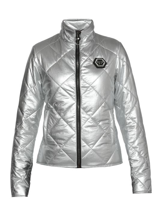 Philipp Plein Quilted Coat With Logo