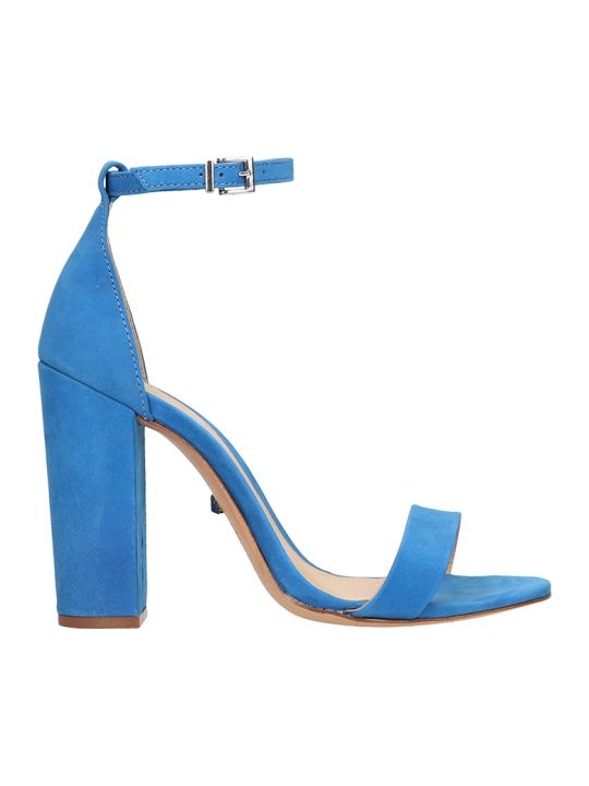 Schutz Blue Suede Leather Sandals