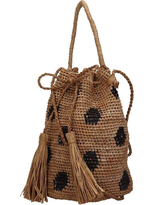 Alanui Handmade Jaguar Shoulder Bag In Beige Tech/synthetic