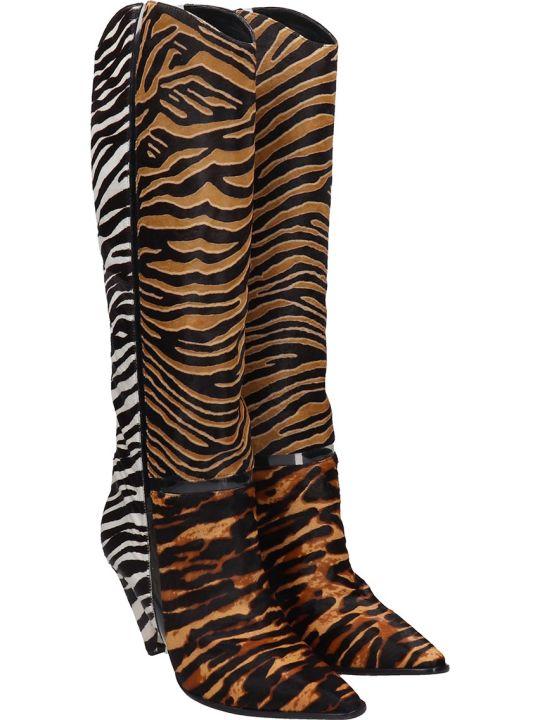 Alexandre Birman Dora Boot 90 Boots In Animalier Pony Skin