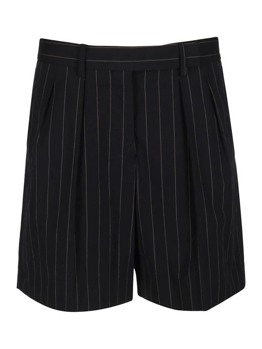 Paul Smith Black Cotton Blend Shorts