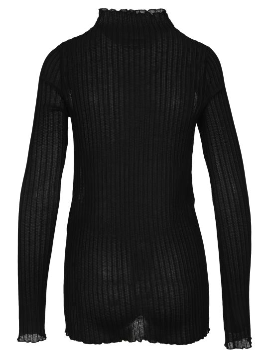 Jil Sander Ribbed-knit Turtleneck Top