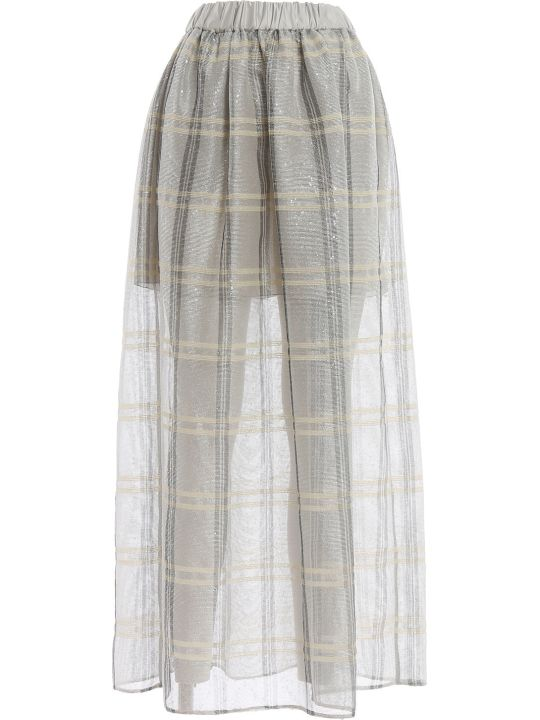 Emporio Armani Emporio Armani Sequined Check Full Skirt