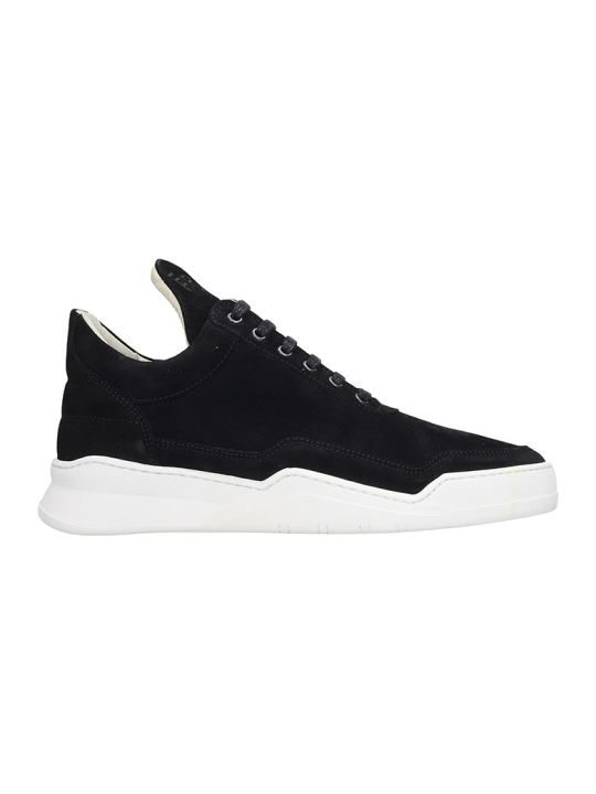 Filling Pieces Low Top Ghost  Sneakers In Black Suede