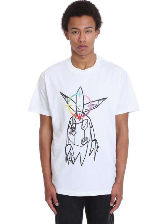 Off-White Futura Alien T-shirt In White Cotton