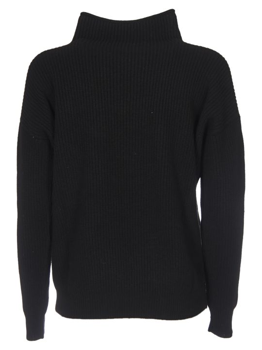 Peserico Turtleneck Pullover In Black