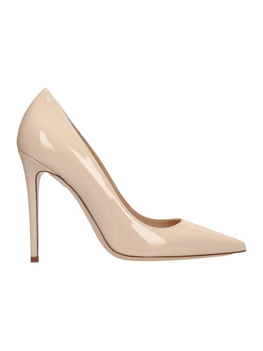 Dei Mille Beige Patent Leather Decollete