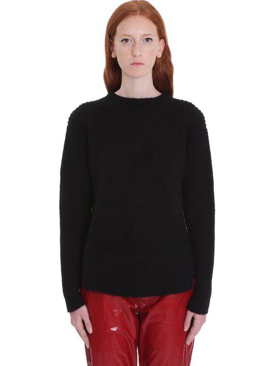 Rick Owens Oversize Round Knitwear In Black Wool