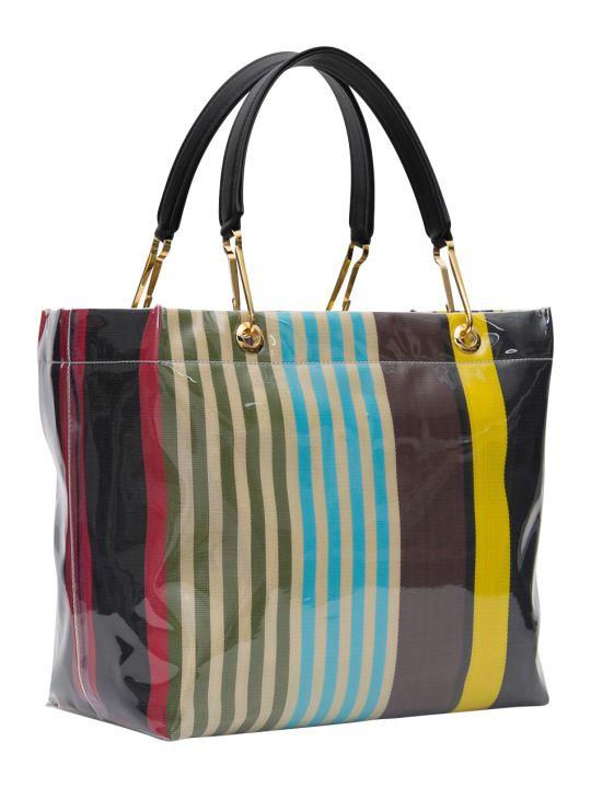 Marni Glossy Big Grip Stripes Plastic Multicolor