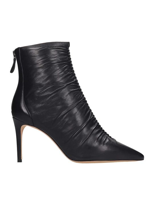 Alexandre Birman Susanna  High Heels Ankle Boots In Black Leather