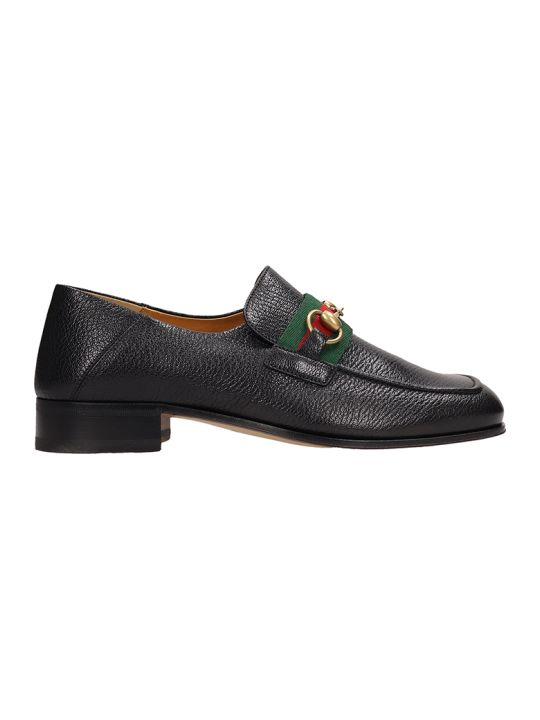 Gucci Horsebit Black Leather Loafers