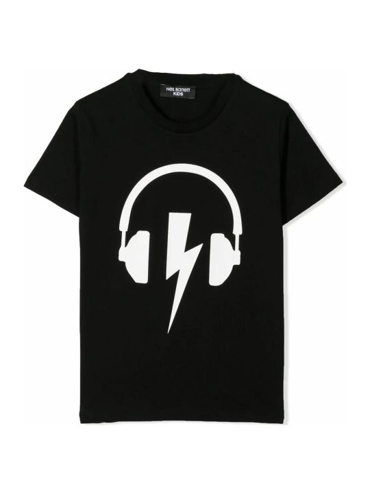 Neil Barrett Black Cotton T-shirt