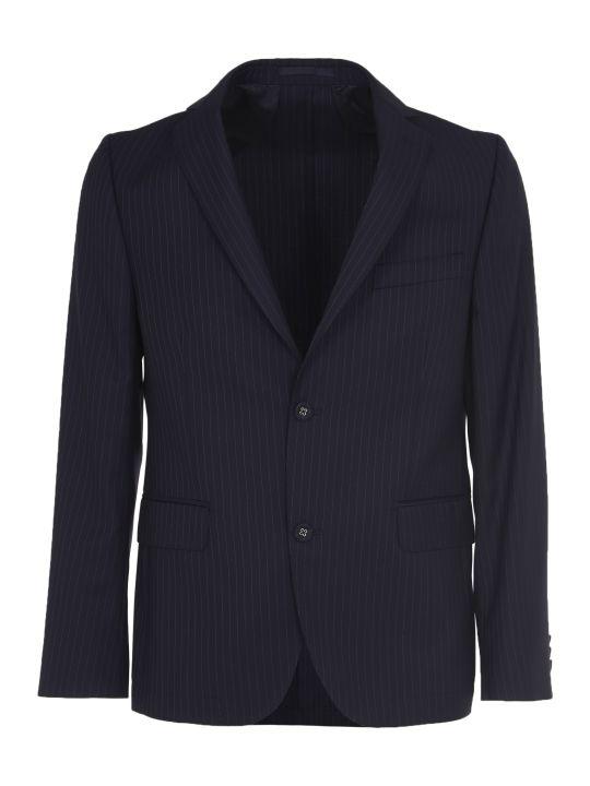 Officine Générale Blue Pinstriped Jacket